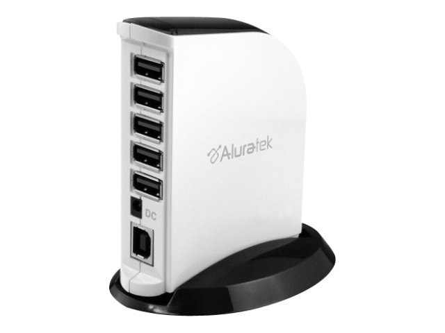 Aluratek 7-Port USB 2.0 Hub w  AC Adapter