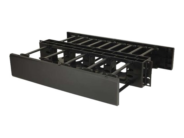C2G 2U Double-Sided Horizontal Cable Management Panel, 14598, 30593919, Rack Cable Management