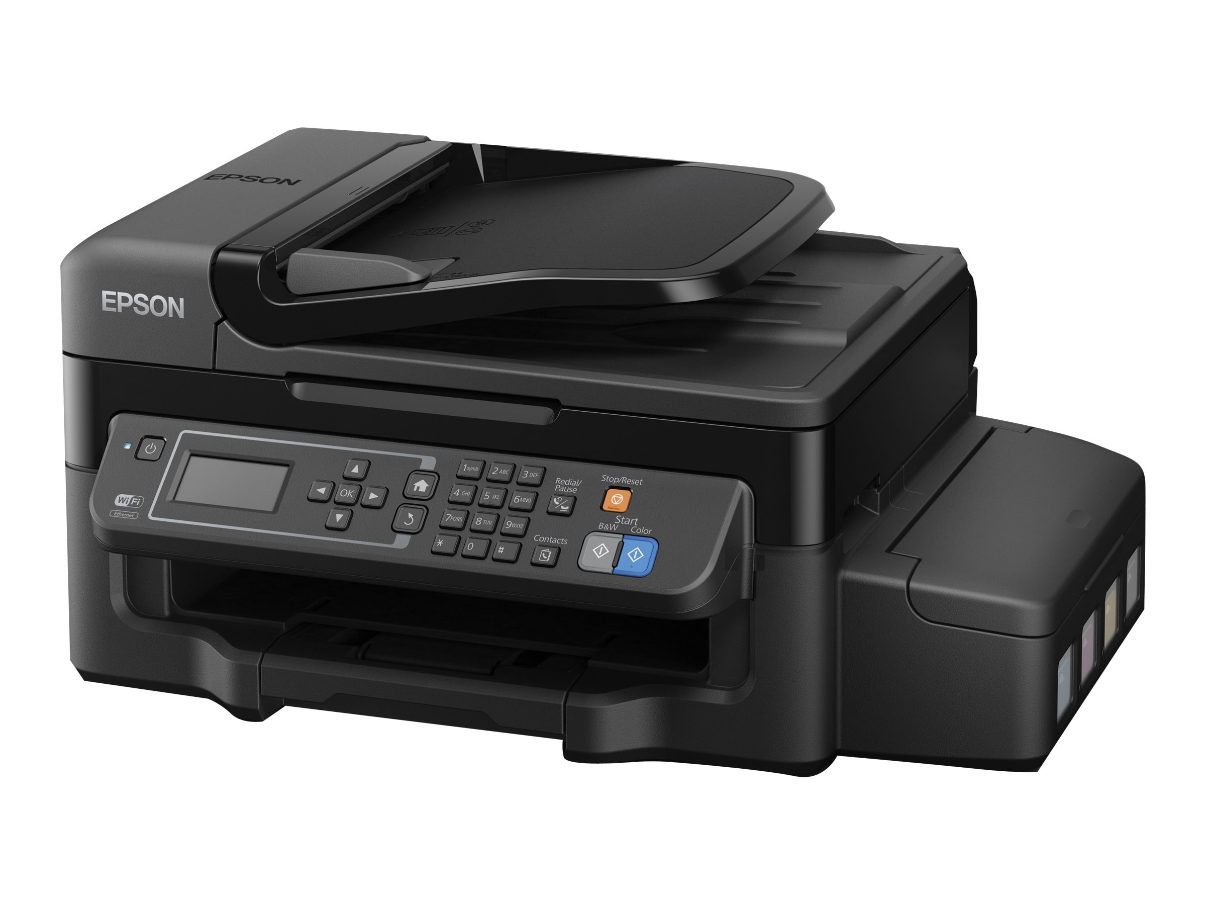 Epson WorkForce ET-4500 EcoTank All-in-One Printer, C11CE90201, 30180946, MultiFunction - Ink-Jet