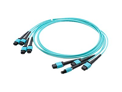 ACP-EP 4xMPO to 4xMPO F F 50 125 OM4 Multimode LSZH Duplex Fiber Cable, Aqua, 50m, ADD-TC-50M48-4MPF4