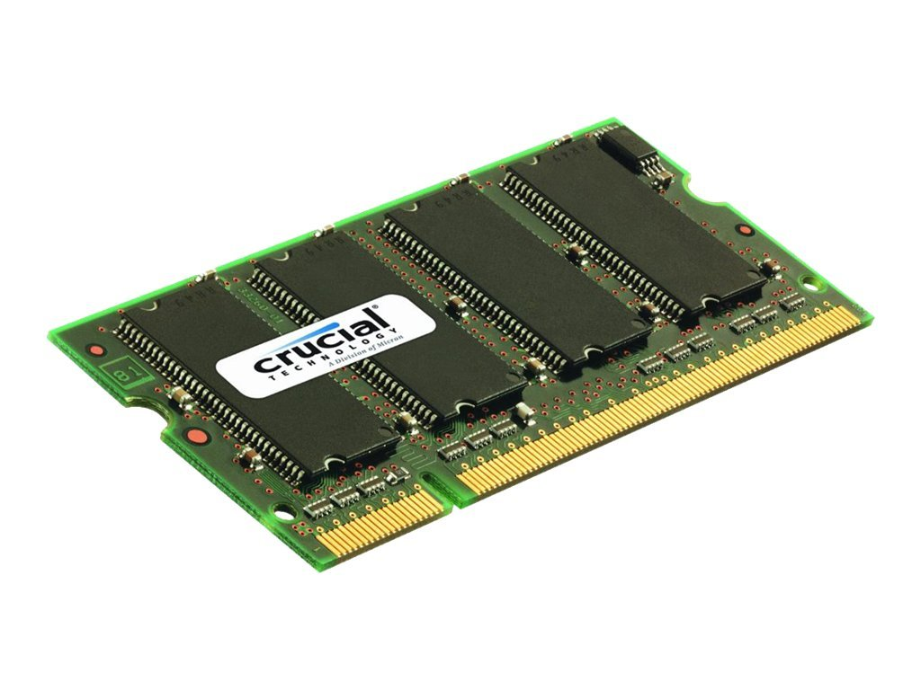 Crucial 2GB PC2-5300 200-pin DDR2 SDRAM SODIMM, CT25664AC667, 8457232, Memory