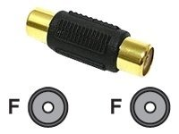 C2G RCA Coupler, F F, Gold, 03169, 5720517, Cables