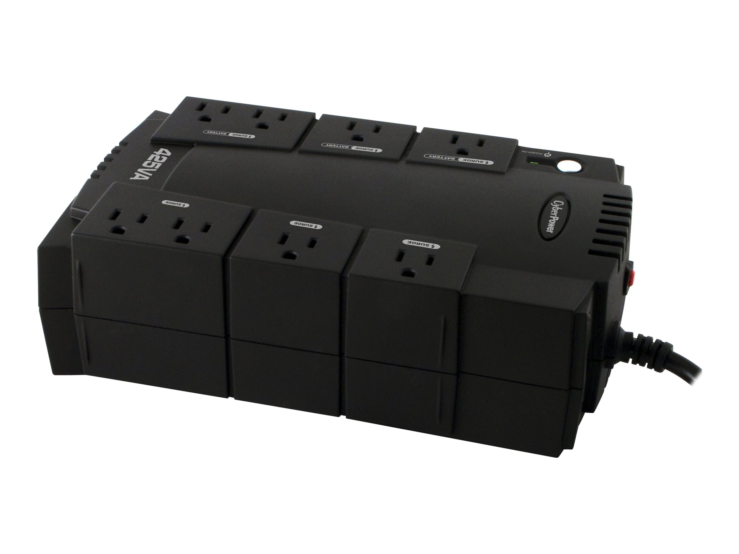 CyberPower 425VA Standby Green UPS (8) 5-15R Outlets USB, Management Software, CP425SLG, 10896322, Battery Backup/UPS