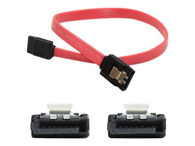 ACP-EP Latching SATA to SATA F F Cable, Red, 1.5ft, 5-Pack, SATAFF18IN-5PK
