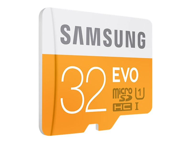 Samsung 32GB EVO MicroSDHC Flash Memory Card, Class 10 with SD Adapter, MB-MP32DA/AM, 17540281, Memory - Flash