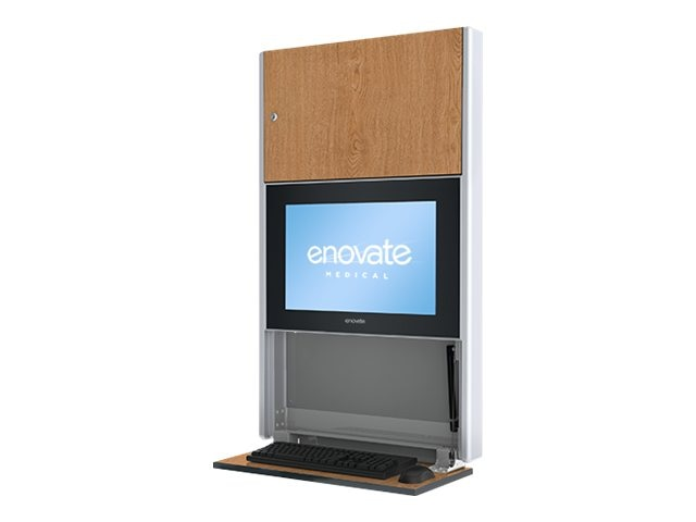 Enovate e550 Lite Wall Station, Fine Oak, E550B4-N4W-00FO-0, 15728838, Computer Carts - Medical