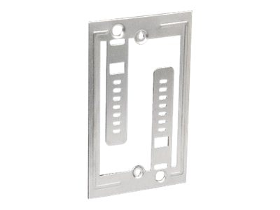 Panduit Low Voltage Retrofit Mounting Plate Bracket, Single Gang Box w  Screws, LV-W-1G