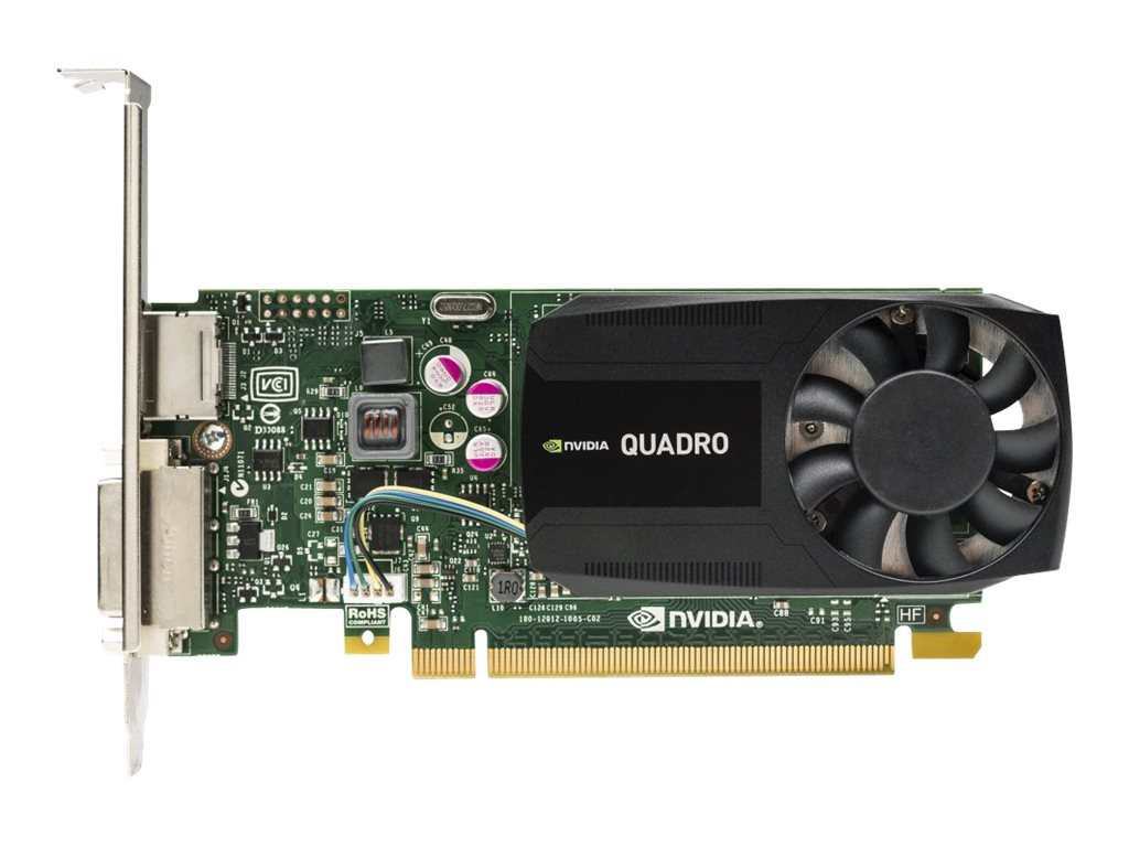 HP NVIDIA Quadro PCIe 2.0 x16 Graphics Card, 2GB DDR3