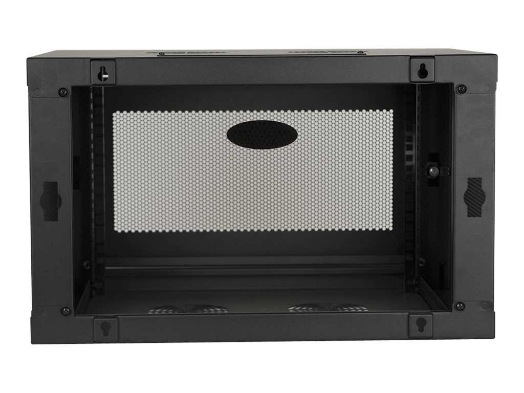 Tripp Lite SmartRack 6U Low-profile Switch-depth Knock-down Wall-mount Rack Enclosure Cabinet, SRW6UKD
