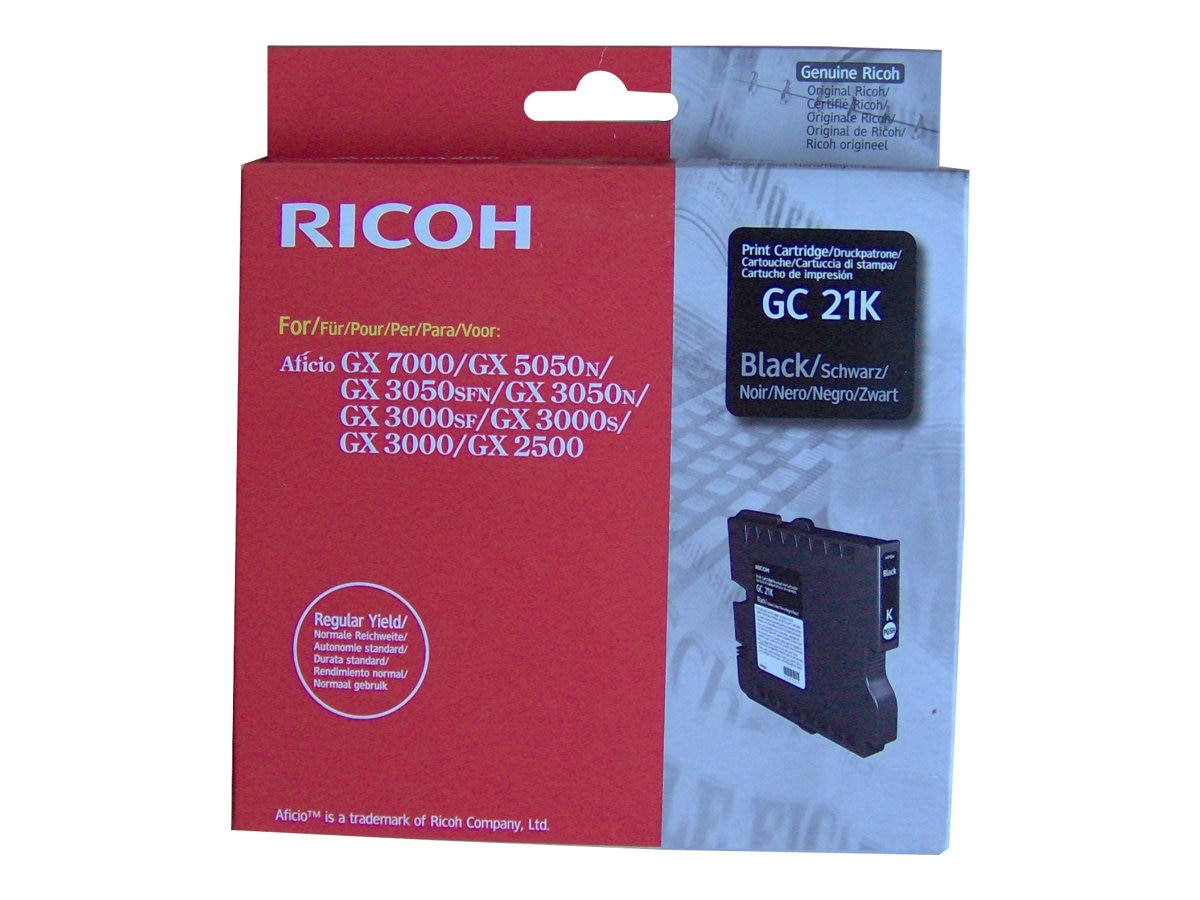 Ricoh Black GC21K Ink Cartridge, 405532