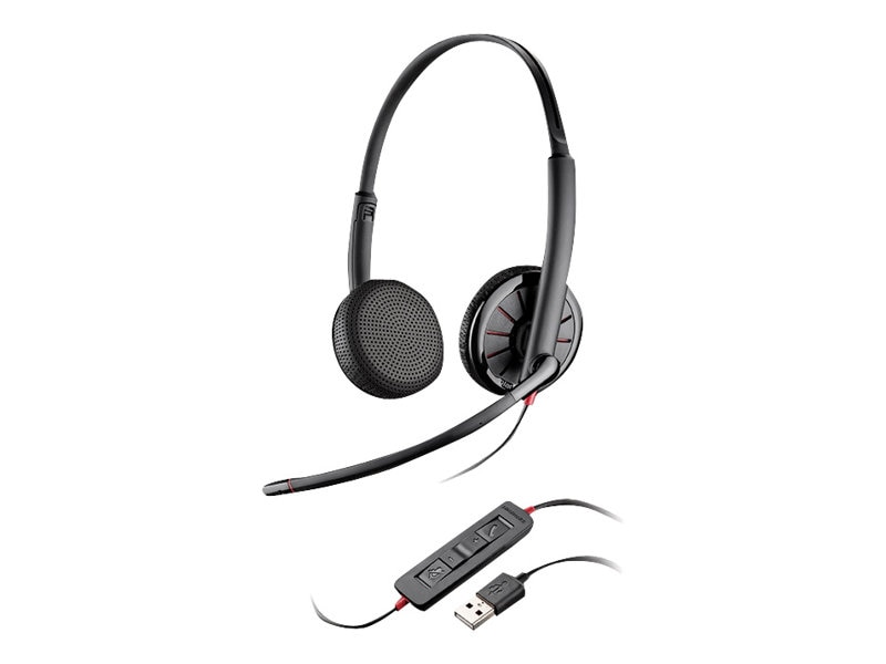 Plantronics BW C325.1 Binaural Headset w  3.5mm Plug Option, 204446-02