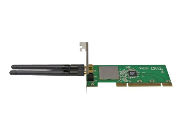 Open Box StarTech.com PCI Wireless N Adapter - 300 Mbps PCI 802.11 b g n Network Adapter Card, PCI300WN2X2