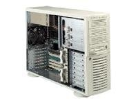 Supermicro Chassis, 4U, IDE, 7HD Bays, No CD FDD, PS, Low Noise, Beige, CSE-742I-450, 4933123, Cases - Systems/Servers