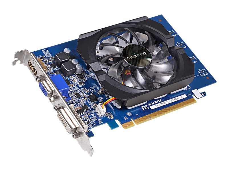 Gigabyte Tech GeForce GT 730 PCIe Graphics Card, 2GB GDDR5, GV-N730D5-2GI REV2.0