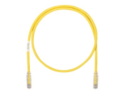 Panduit CAT6A UTP Copper Patch Cable, Yellow, 10ft