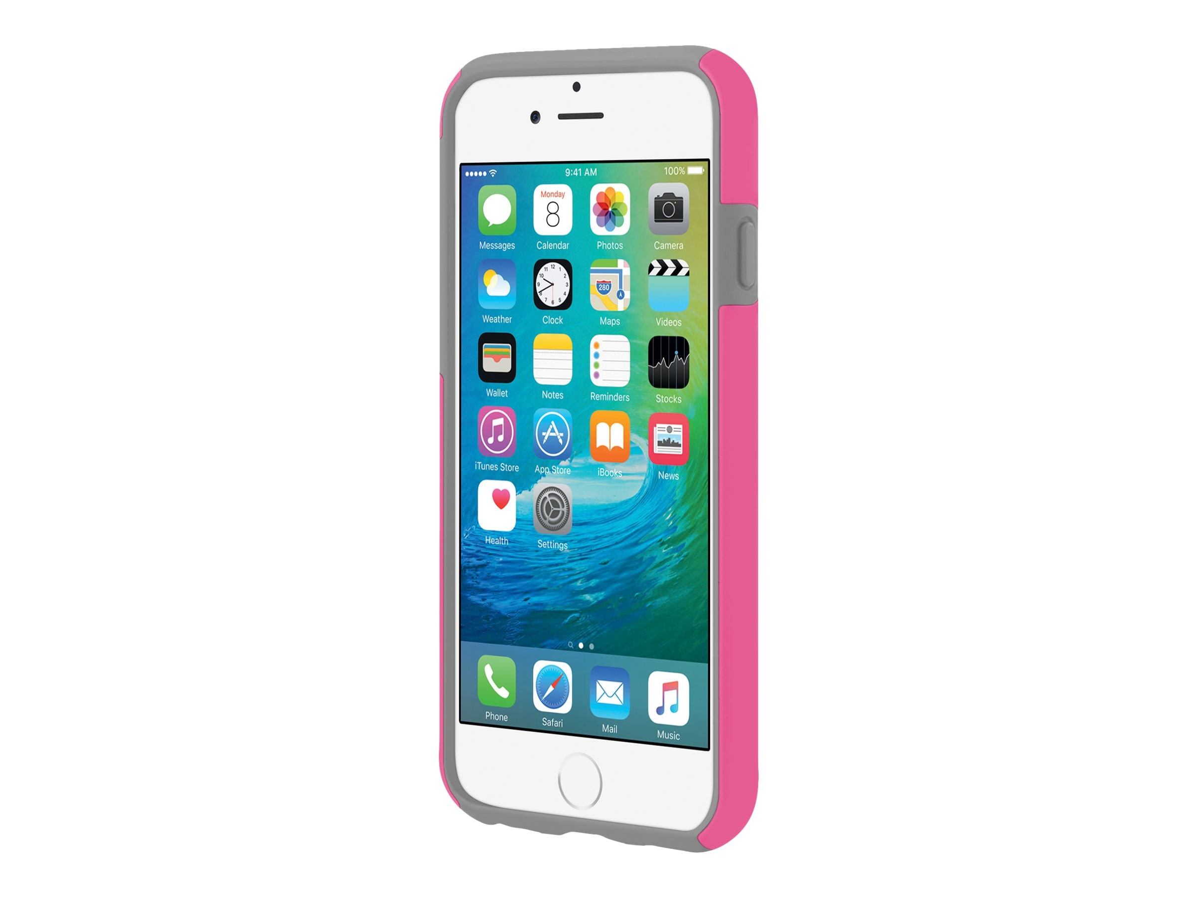 Incipio DualPro Hard Shell Case w  Impact-Absorbing Core for iPhone 6 6s, Pink Gray