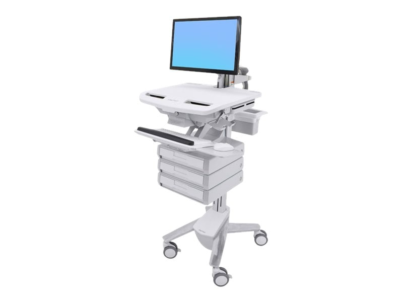 Ergotron StyleView Cart with LCD Arm, 3 Drawers, SV43-1230-0, 31498155, Computer Carts - Medical