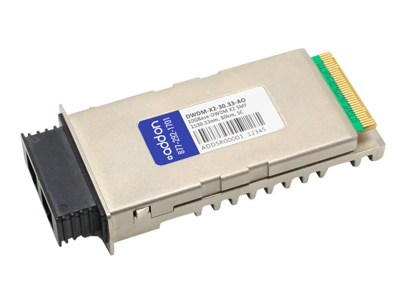 ACP-EP X2 80KM SC TAA XCVR 10-GIG DWDM SMF SC Transceiver for Cisco