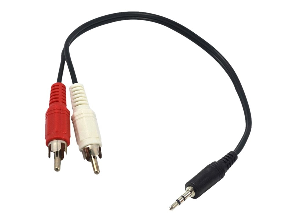 Axiom 3.5mm to 2x RCA M M Stereo Y-Cable Adapter, 6