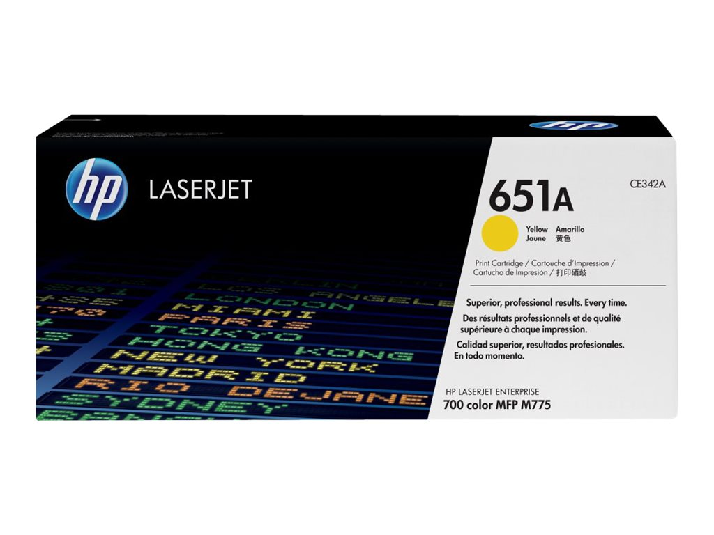 HP 651A (CE342A) Yellow Original LaserJet Toner Cartridge