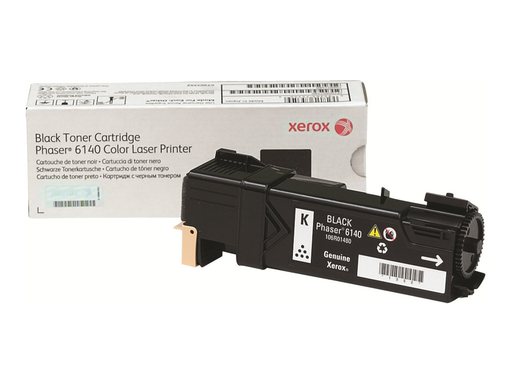 Xerox Black Toner Cartridge for Phaser 6140, 106R01480