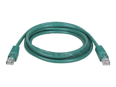 Tripp Lite Cat5e RJ-45 M M 350MHz Molded Patch Cable, Green, 7ft, N002-007-GN, 169154, Cables