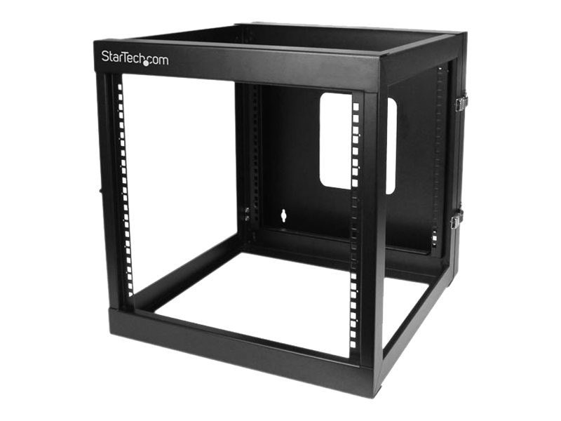StarTech.com 12U x 22d Hinged Open Frame Wall Mount Server Rack, RK1219WALLOH, 15063531, Racks & Cabinets