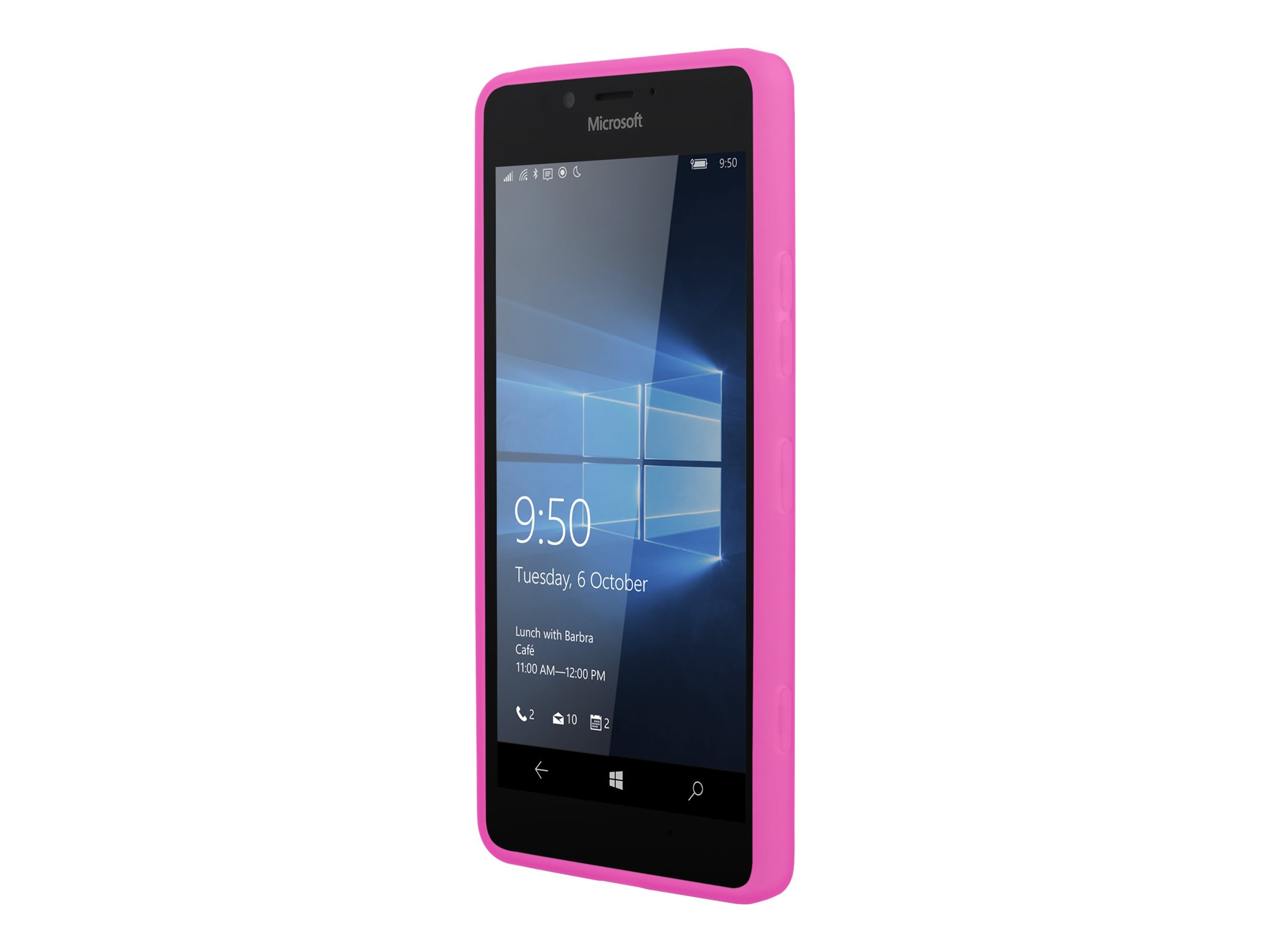 Incipio NGP Flexible Impact Resistant Case for Microsoft Lumia 950, Pink