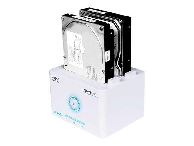 Vantec NexStar SuperSpeed 2.5 3.5 SATA to USB 3.0 Dual Bay Hard Drive Dock - White