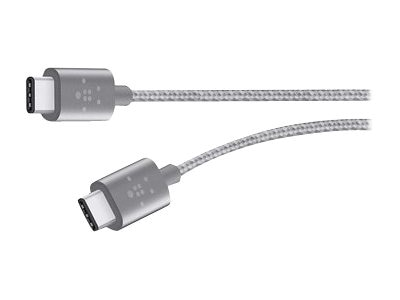 Belkin MIXIT Metallic USB Type C (USB-C) M M Charge Cable, Gray, 6ft