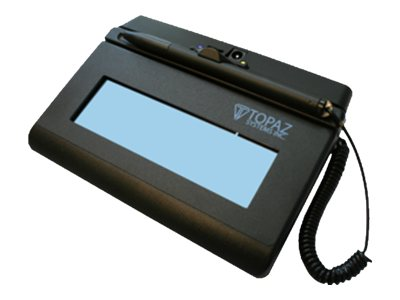 Topaz Siglite LCD 1x5 Bluetooth Backlit Wireless Electronic Signature Pad, T-LBK460-BT2-R, 18161099, Signature Capture Devices