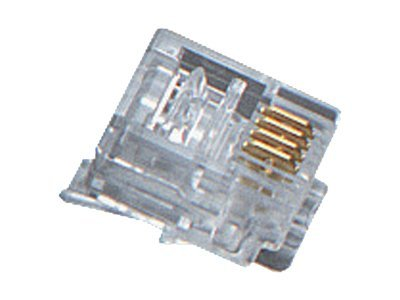Black Box 4-Wire RJ-11 Modular Connector, 10-Pack, FMTP411-10PAK