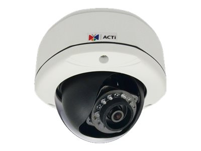 Acti 3MP IR Day Night IP Outdoor Dome Camera with 2-Way Audio Support, 2.93mm Fixed Lens, D72A