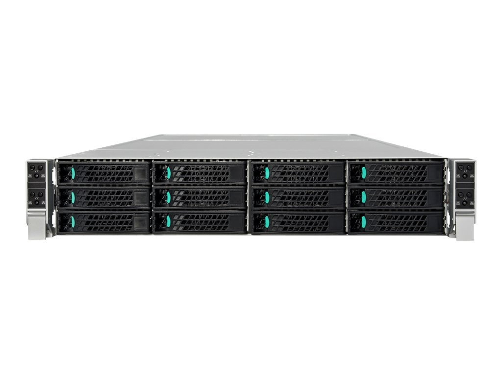 Intel Server System 2U Rack Chassis No CPU 0MB Hot-swap 2.5 SATA No HDD Gigabit Ethernet, H2216WPQJR, 13626660, Barebones Systems