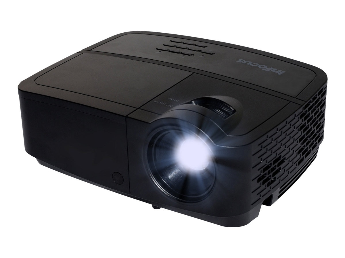 InFocus IN122A SVGA DLP Projector, 3500 Lumens, Black