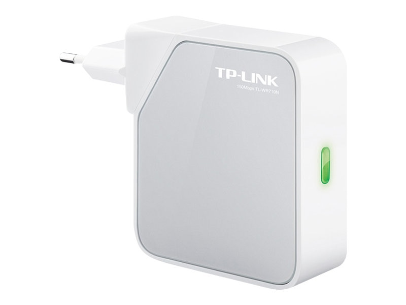 TP-LINK 150Mbps Wireless N Mini Pocket Router, Repeater, Client, 2 LAN Ports, USB Port for Charging Storage, TL-WR710N