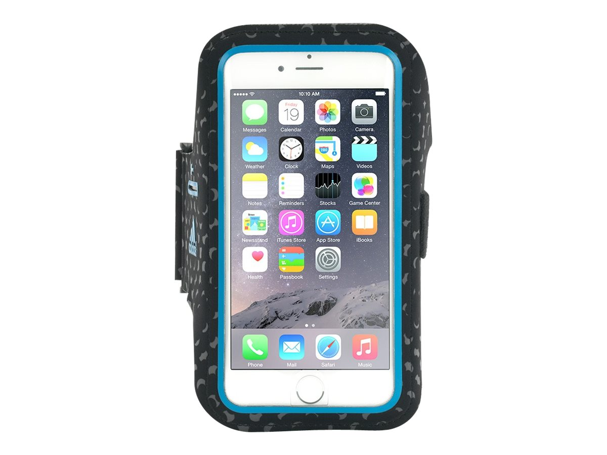Griffin Adidas Armband for iPhone 6, Black Blue, GB40013, 18493843, Carrying Cases - Phones/PDAs