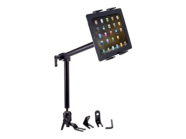 Arkon Heavy-Duty Car or Truck Seat Rail Tablet Mount with 22 Arm for iPad Air, Samsung Galaxy