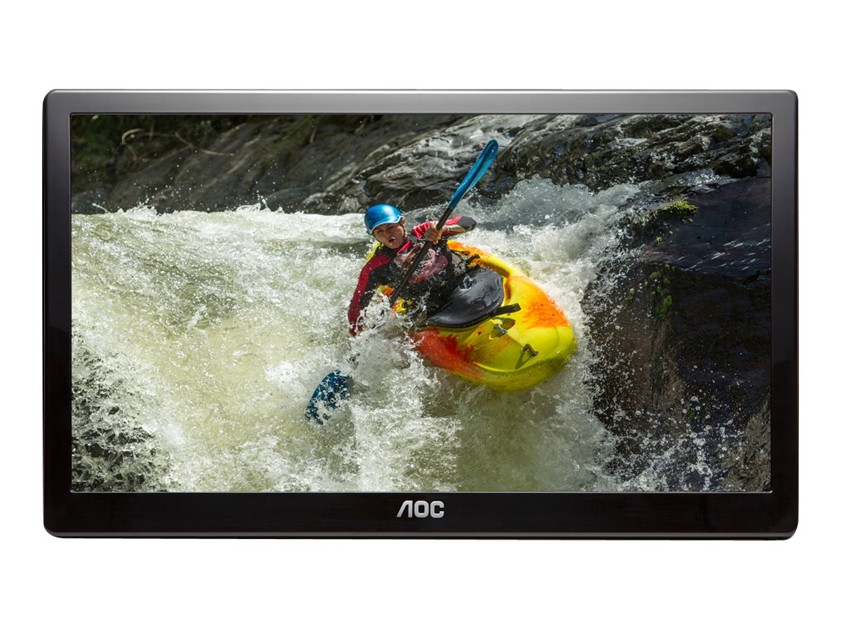 AOC 15.6 E1659FWUX Full HD LED-LCD Portable Monitor, Black, E1659FWUX, 30790218, Monitors - LED-LCD