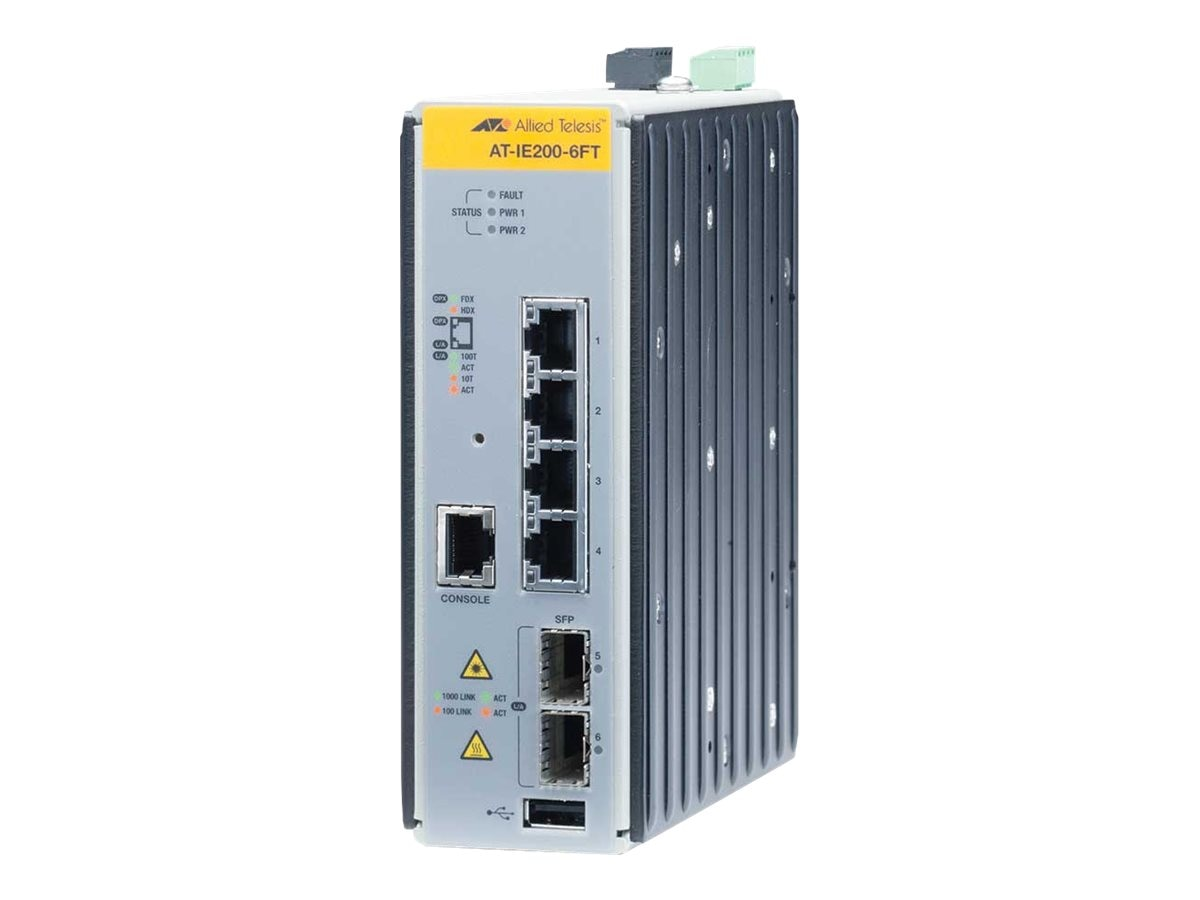 Allied Telesis Industrial 6-Port Gigabit Switch w AW+ Fast Ethernet