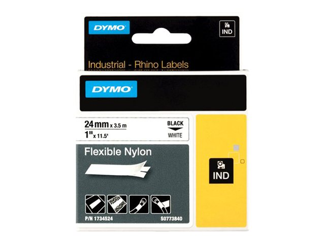 DYMO 1 White Flexible Nylon Tape, 1734524