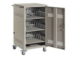 Black Box 30-Device Charging Cart with Steel Top, 3 PDU, Timer, LCC30H-AT, 18468509, Computer Carts