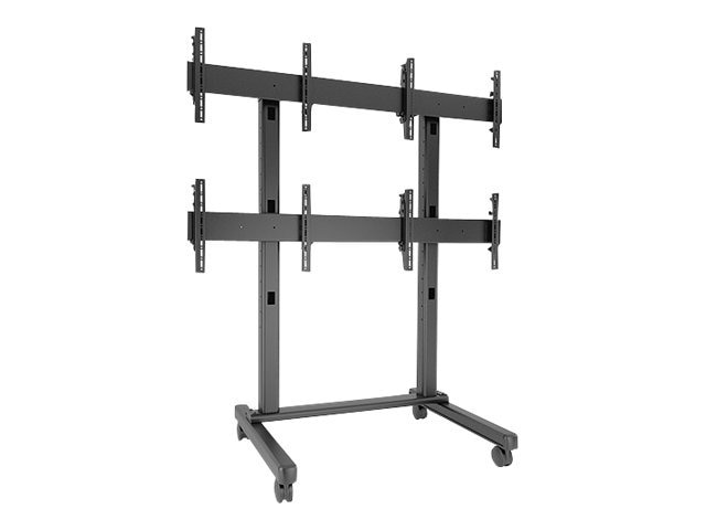 Chief Manufacturing Fusion 2 x 2 Micro-Adjustable Large Freestanding Video Wall Cart