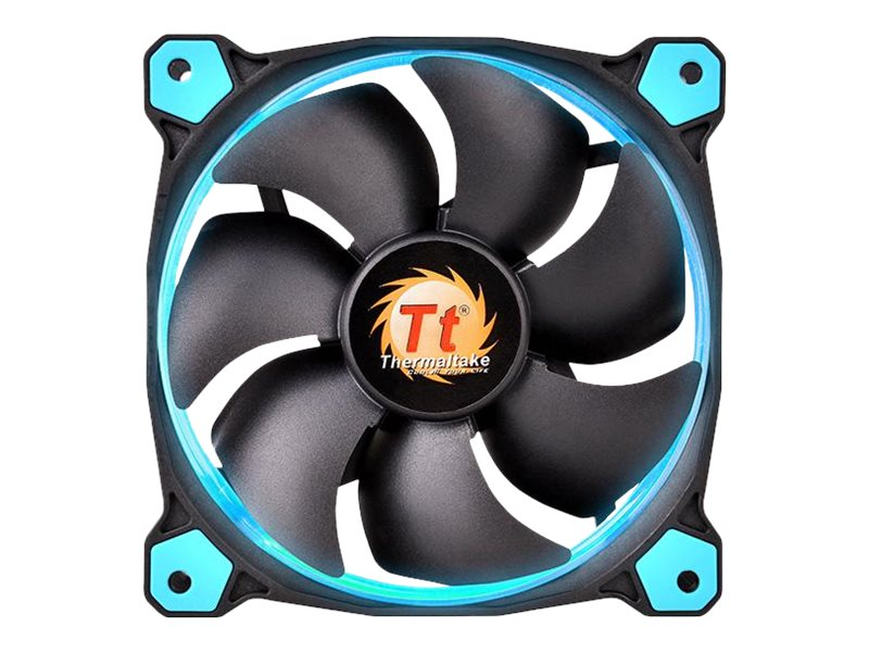 Thermaltake Riing 12 LED 120mm High Static Pressure Radiator Fan 1500 RPM, Blue