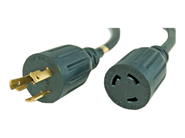 APC Power Extension NEMA L6-30P to NEMA L6-30R, 10AWG, 3C, 30A 250V, 3ft, 40326-3