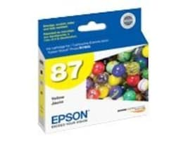 Epson Yellow UltraChrome Hi-Gloss 2-Ink Cartridge for Stylus Photo R1900 Printers, T087420, 8318030, Ink Cartridges & Ink Refill Kits