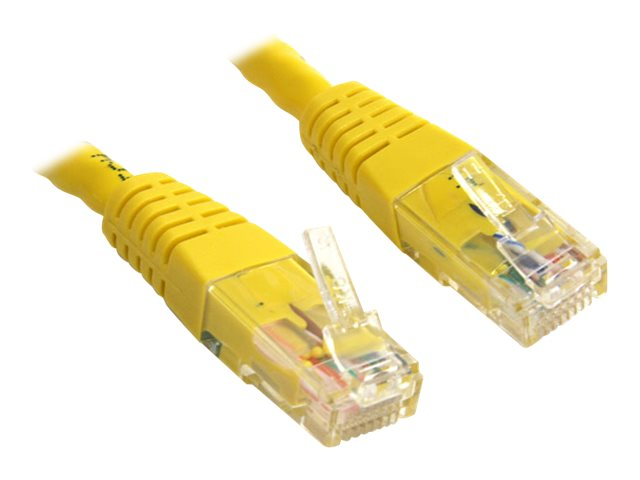 StarTech.com Cat6 Molded Crossover Network Patch Cable, RJ45, Yellow, 15ft