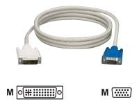 Black Box Digital Visual Interface (DVI) Cable with Straight Hood, DVI-A to VGA (M-M), 15ft
