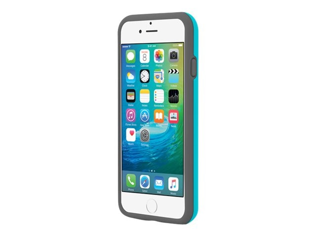 Incipio Stowaway Credit Card Case w  Kickstand for iPhone 6 6s, Cyan Gray