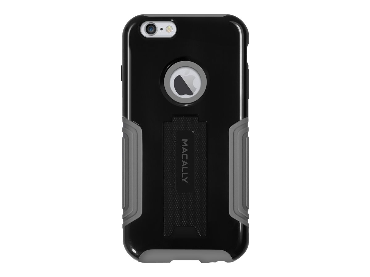 Macally Hard Case and Stand for iPhone 6 Plus, Black, KStandP6LB, 17923485, Carrying Cases - Phones/PDAs